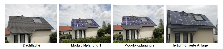 Modulbildplanung Solaranlagen Dachplanung  Dachbelegung PV Photovoltaik