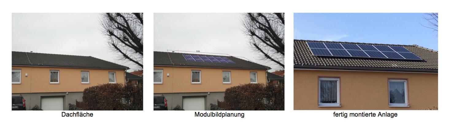 Modulbildplanung Dachbelegung PV Solaranlagen Dachplanung Photovoltaik