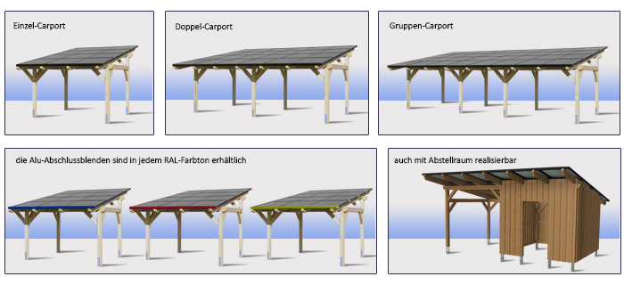 Solar carport presolaris presolaris for Holzkonstruktion carport